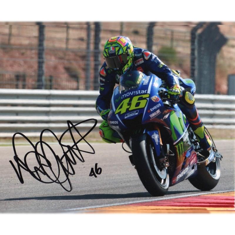 Fotografia autografata da Valentino Rossi