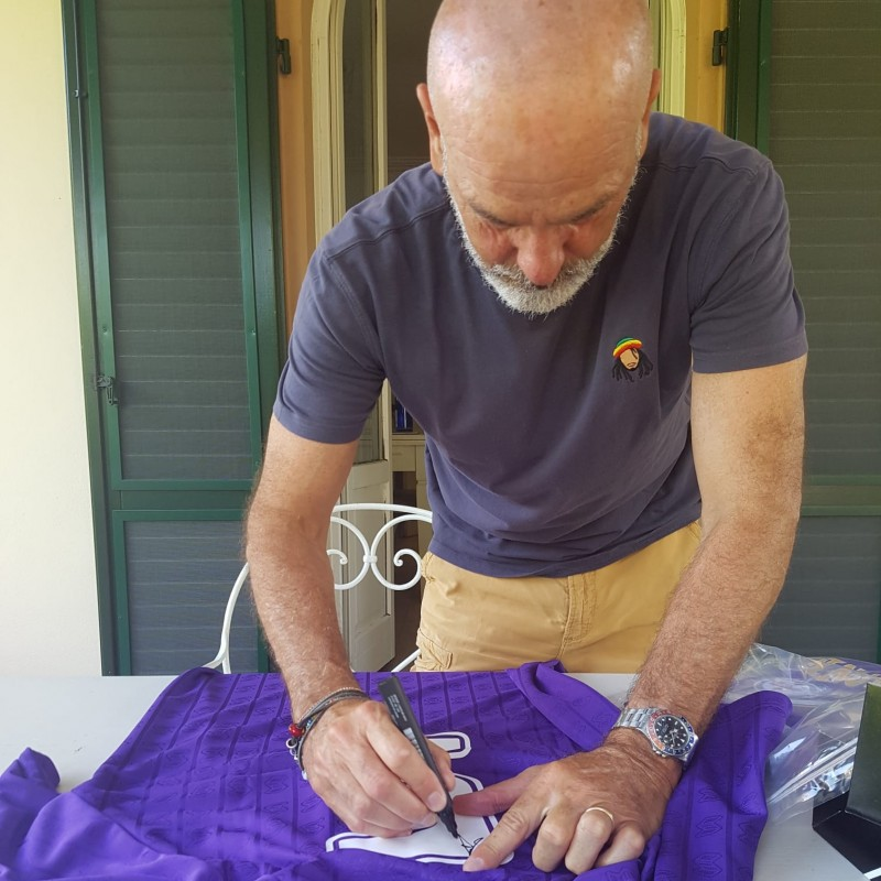 Pioli's Official Fiorentina Signed Kit, 1989/90