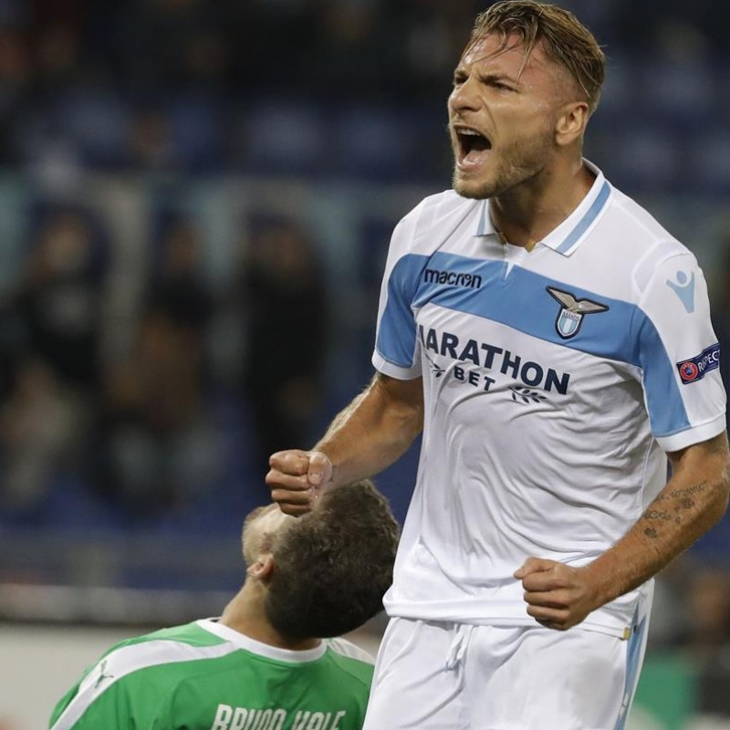 Immobile's Signed Match Shirt, Lazio-Seveille 2019