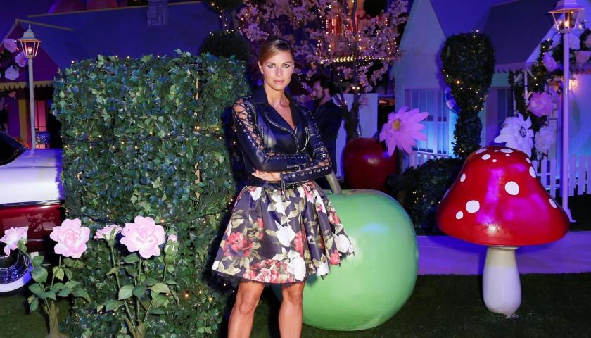 Martina Colombari dress worn during Philipp Plein fashion show