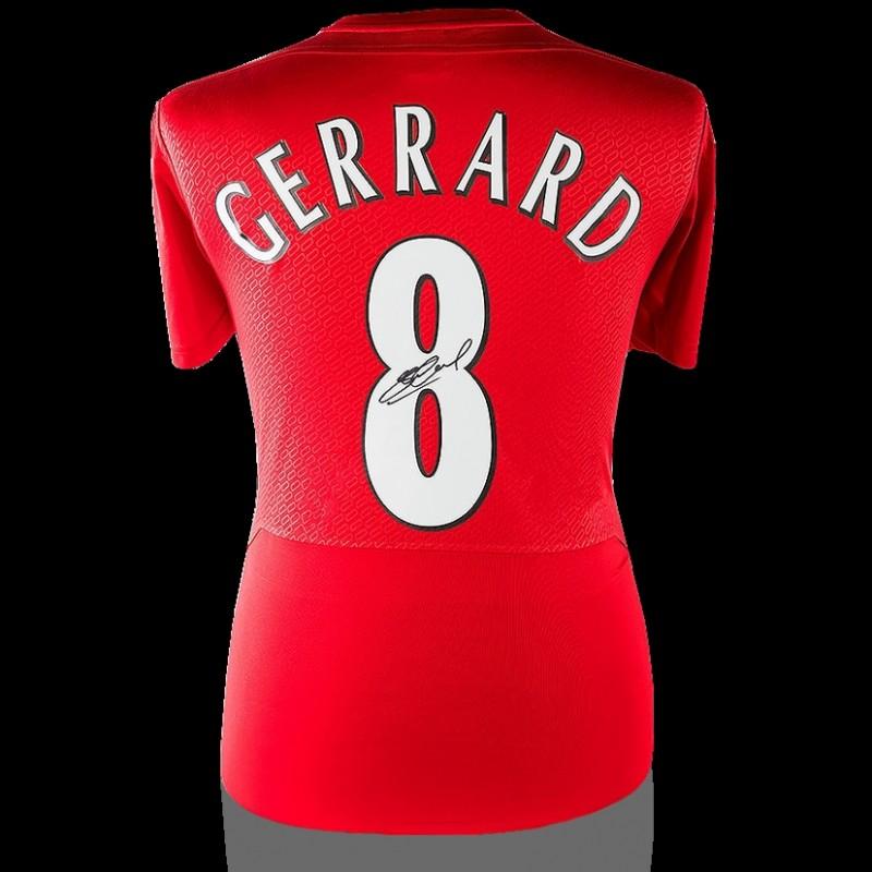 Steven Gerrard Back Signed Liverpool 2005 Home Shirt: UEFA Champions League Final Edition