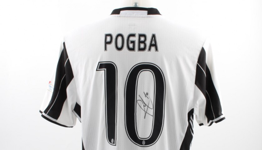 cheap for discount 7bff2 db184 Pogba shirt, issued Milan-Juventus Tim Cup final - signed - CharityStars