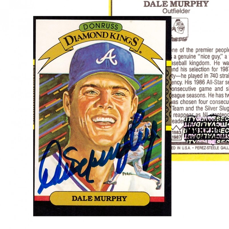 Dale Murphy Signed 1986 Donruss Baseball Card