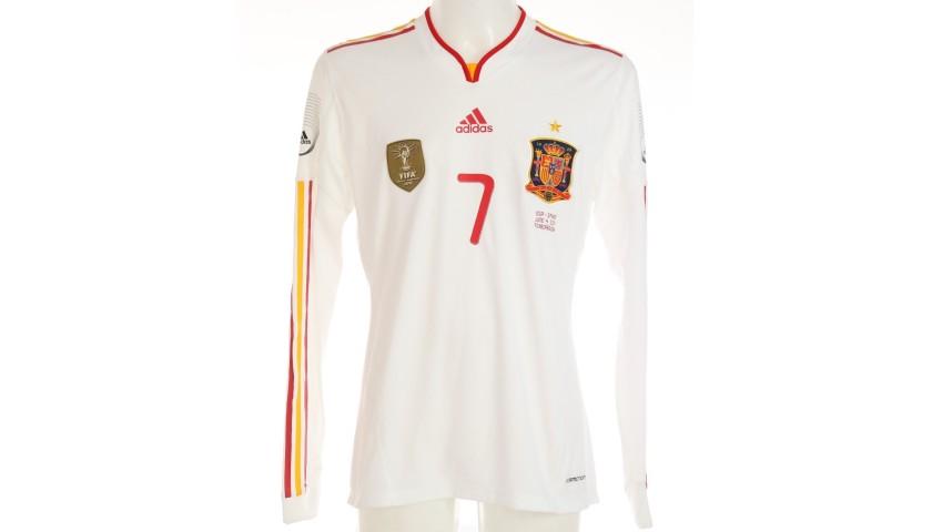Villa's Match-Issued Shirt, USA-Spain 2011