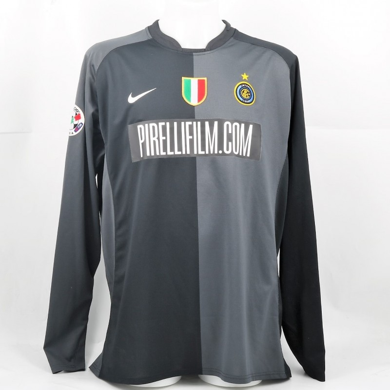 Toldo's Match-Issued 2006/07 Inter-Lazio Shirt, Sponsored by PirelliFilm