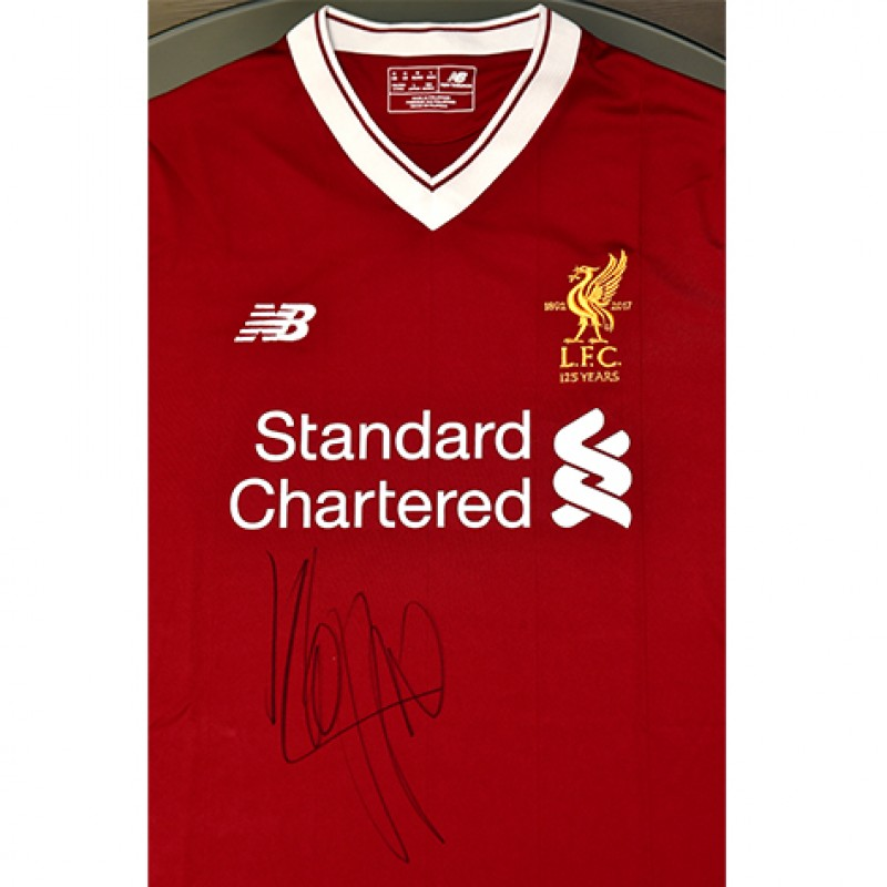 Liverpool FC 125 Years Home Shirt Signed by Jürgen Klopp