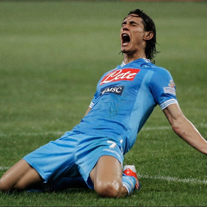 Napoli Football - Signed by Edinson Cavani