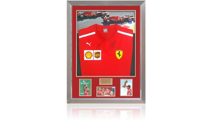 Ferrari Shirt Hand Signed by Charles Leclerc & Sebastian Vettel