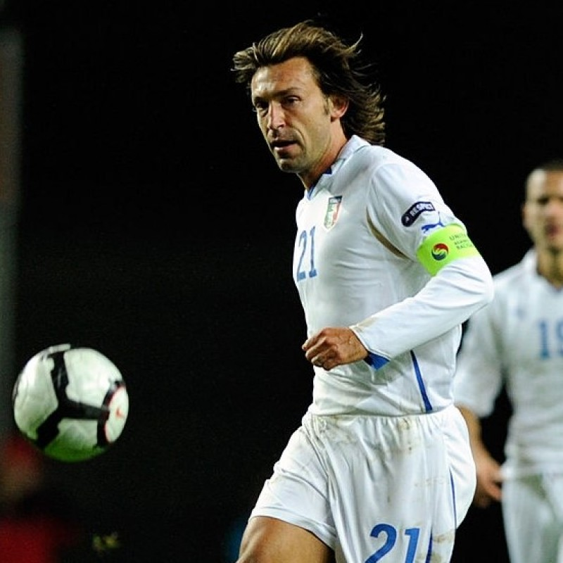 Pirlo's Italy Match Shirt, Euro 2012 Qualifiers