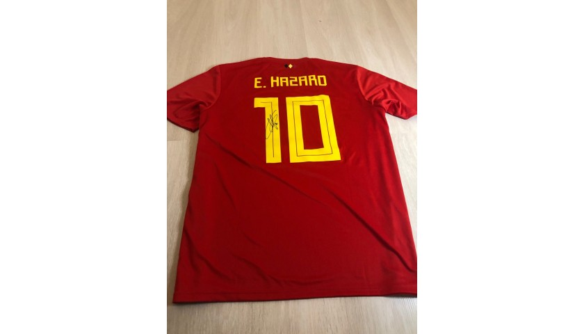 Official Belgium WC 2018 Shirt Signed by Eden Hazard