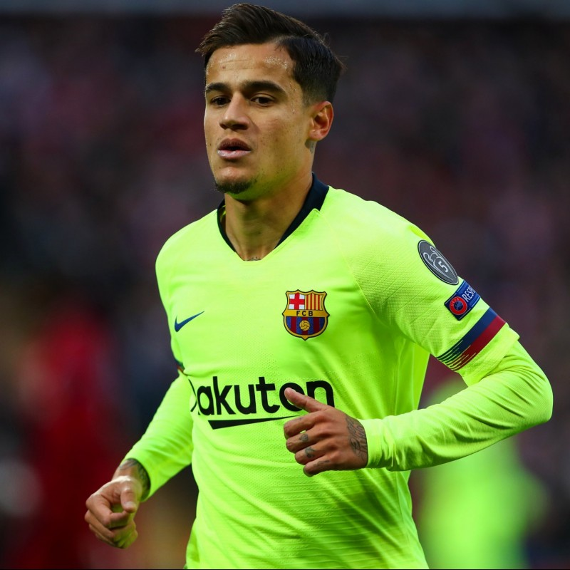 Coutinho's Barcelona Match Shirt, UCL 2018/19
