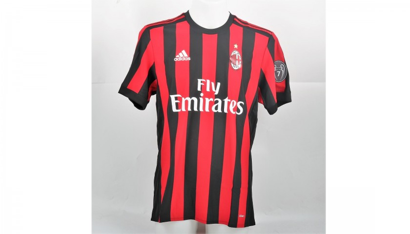Cutrone's Signed Match-Issued Shirt, Milan-Inter TIM Cup 2017