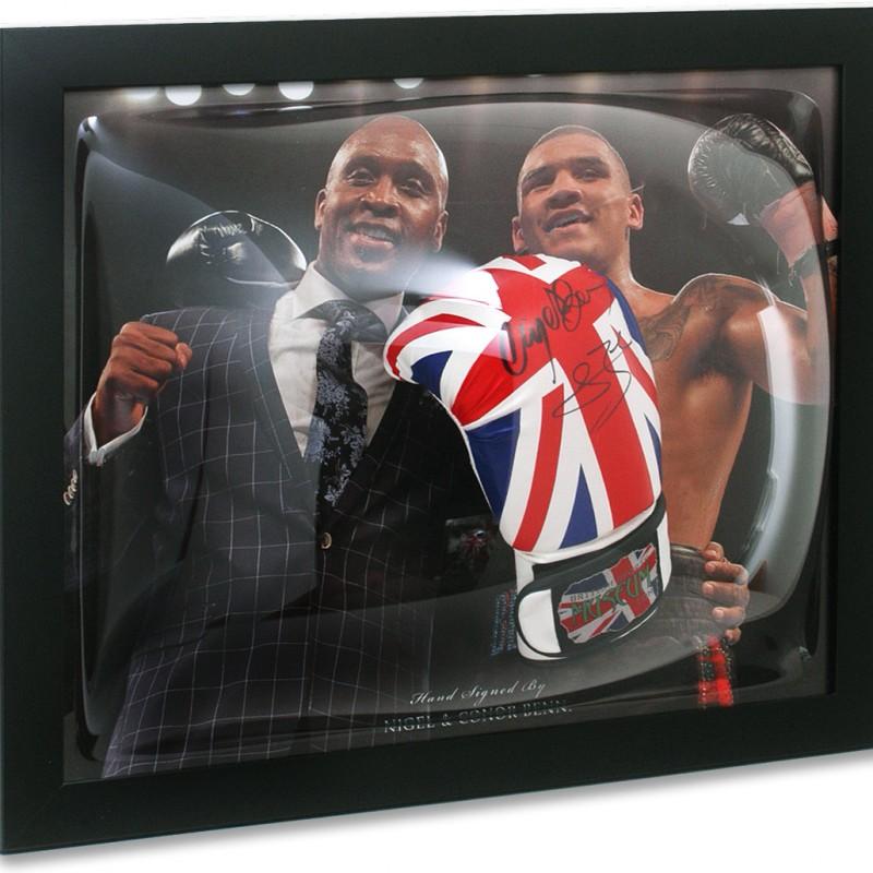 Nigel & Conor Benn Hand Signed Boxing Glove Presentation