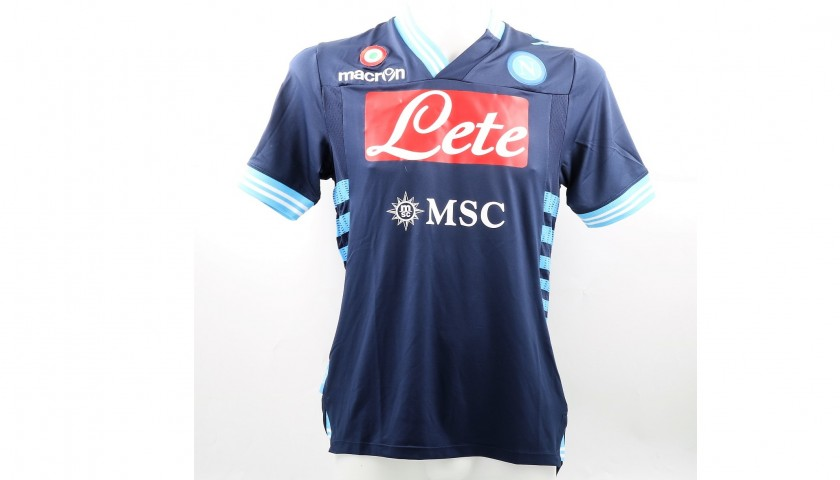 Cavani S Signed Match Issued Napoli Shirt 2012 13 Serie A Charitystars