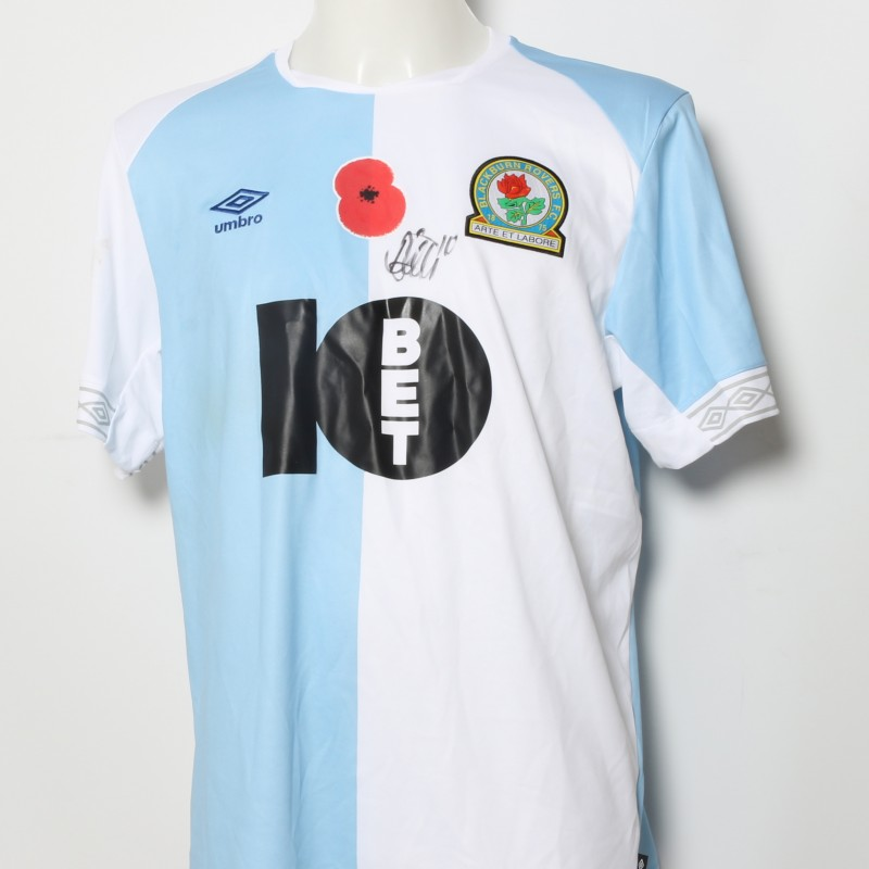 Danny Graham s Match-Worn Blackburn Rovers Signed Poppy Home Shirt d33351ed9