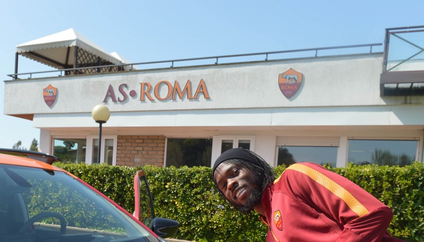 Citroën C4 Cactus customised with A.S. Roma branding