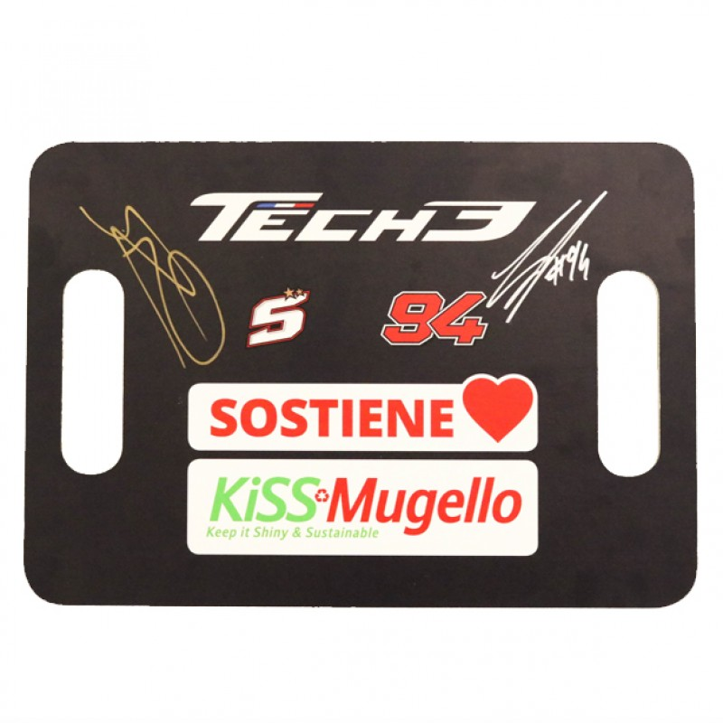 KiSS Mugello Tech 3 Banner - Signed by Zarco and Folger