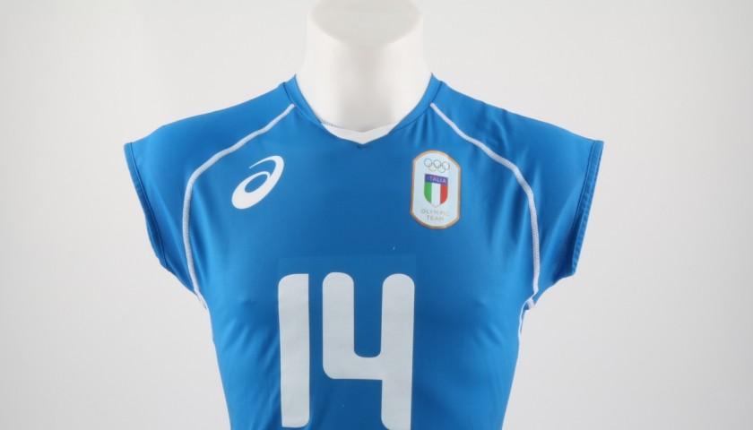 Match worn Lo Bianco shirt, Rio 2016 - signed