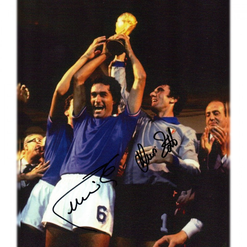 Photograph Signed by Claudio Gentile and Dino Zoff - 1982 World Cup