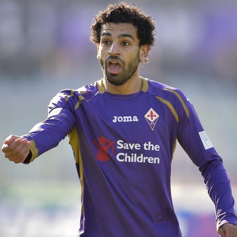 Salah's Match Worn and Signed Shirt, Fiorentina-Atalanta 2015