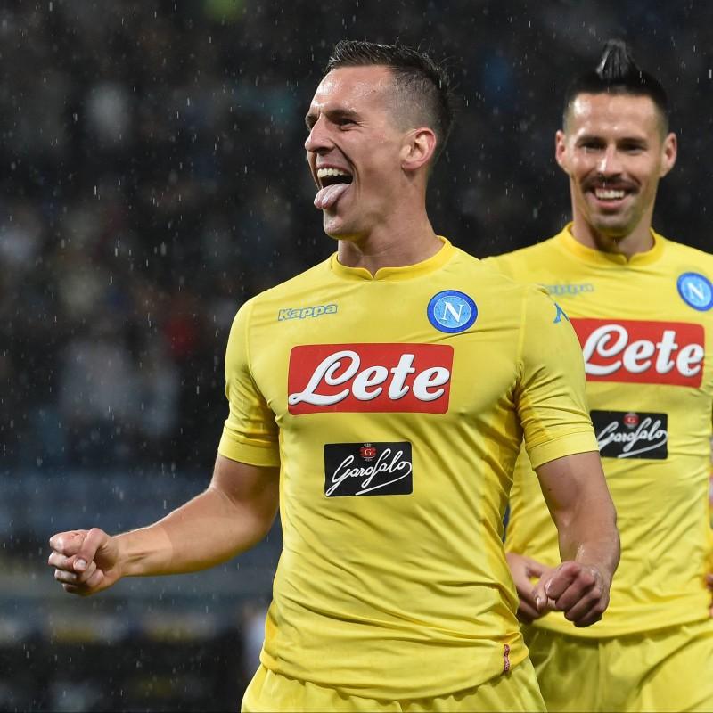46786e3934e10 Milik s Napoli Match-Issue Worn Shirt
