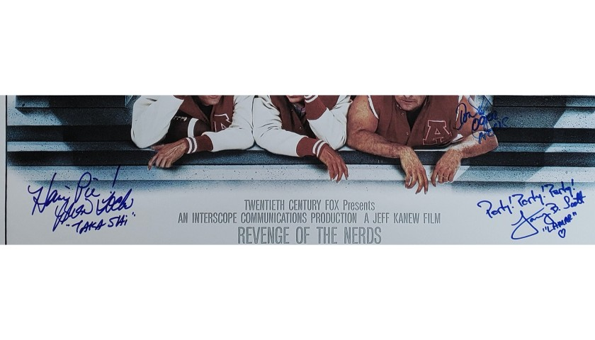 """The Revenge of The Nerds"" Cast Signed Poster"