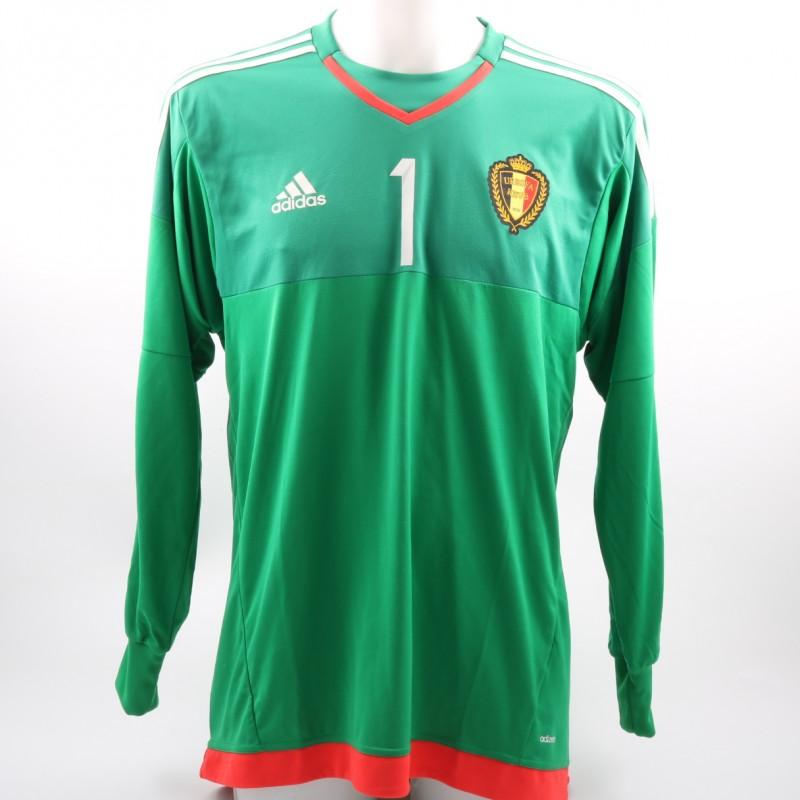 Courtois' Belgium Match-Issue/Worn 2015/16 Friendly Shirt