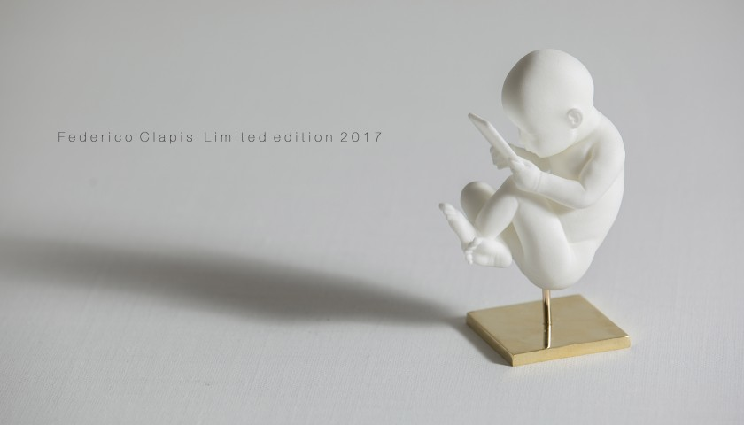 """""""Baby Connection"""" Sculpture by Federico Clapis"""