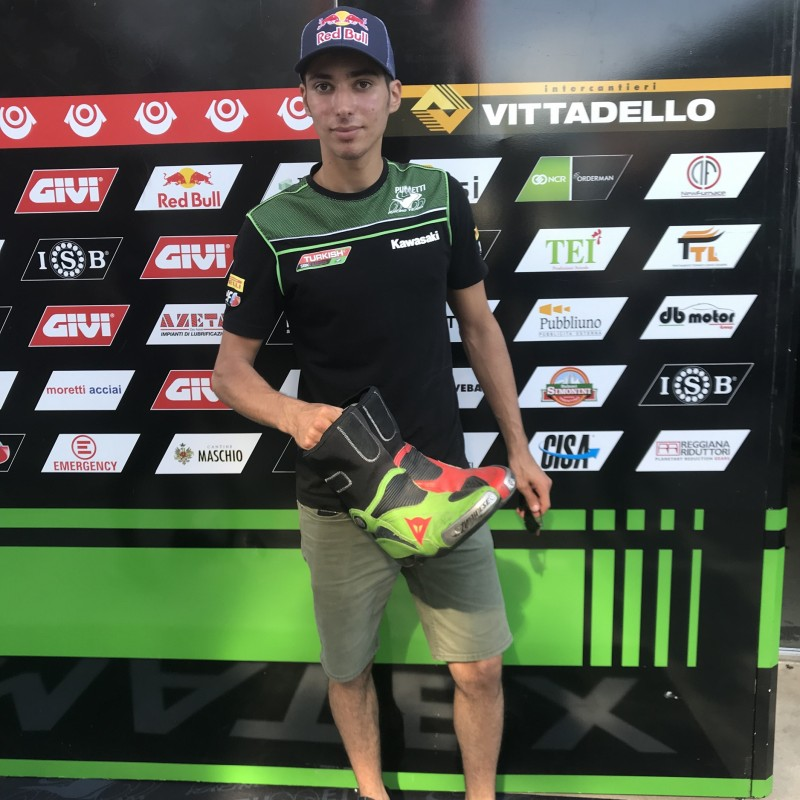 Racing Boots Worn and Signed by Toprak Razgatlioglu at Portimao