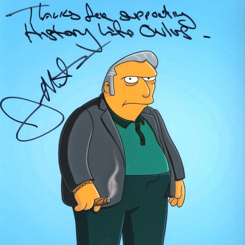 """""""The Simpson"""" - Joe Mantegna (Fat Tony) Signed Photograph"""