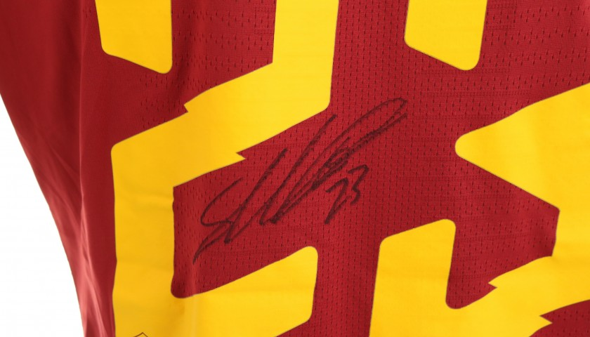 Mancini's Issued and Signed Shirt, Roma-SPAL 2019