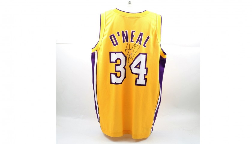 Signed Official 2000 O'Neal Lakers Shirt