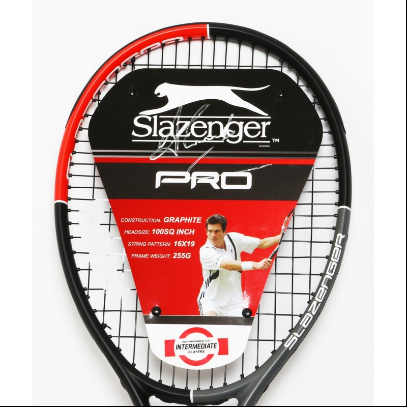 Slazenger Pro Tennis Racket Signed by Tim Henman