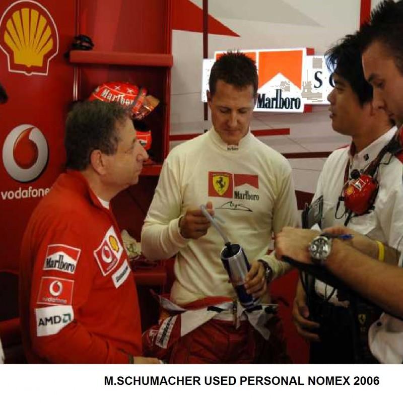 Race Worn Michael Schumacher Ferrari 2006 Marlboro Nomex Top