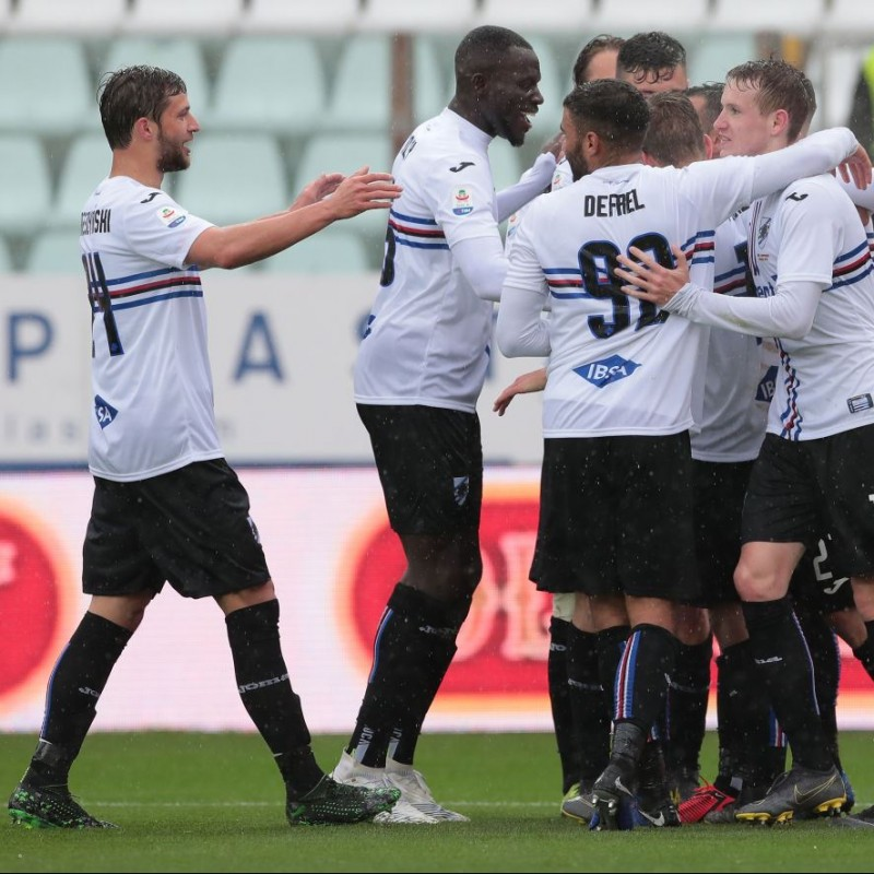 Bereszyński's Worn Shirt, Parma-Sampdoria - #Blucrociati