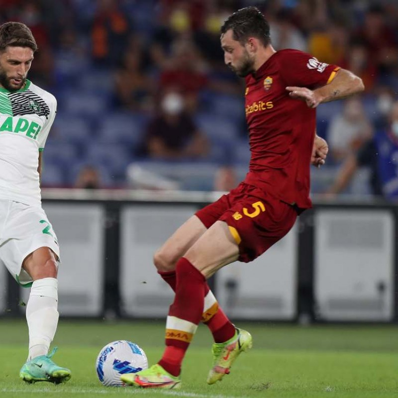 Vina's Worn Shirt, Roma-Sassuolo 2021/22 Special UNHCR - Signed with Dedication