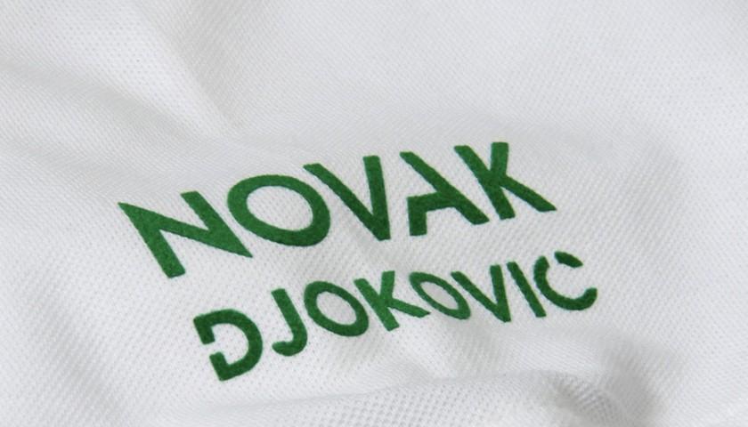 NDF 7 Slam Celebrative White Polo - signed by Djokovic