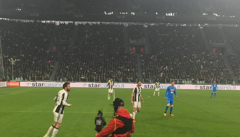 Watch Juventus play Barcelona from Leo Bonucci's seats in the 1st row + hotel