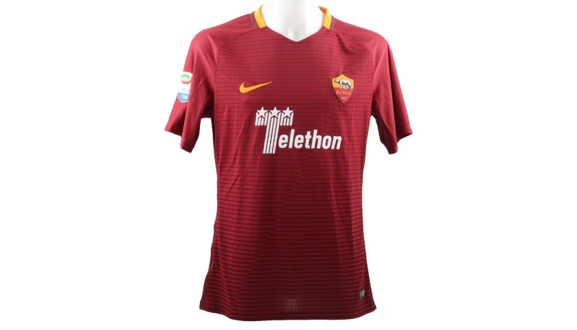 Totti 's Match-Issue Shirt, Juventus-Roma 2016