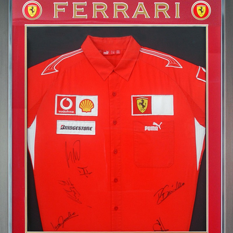 Ferrari Shirt Signed by Schumacher & Other Champions