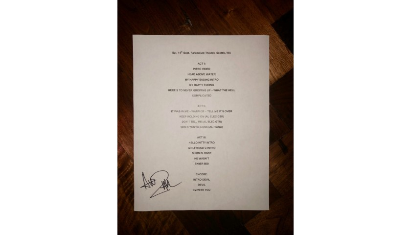Autographed Setlist: Portland