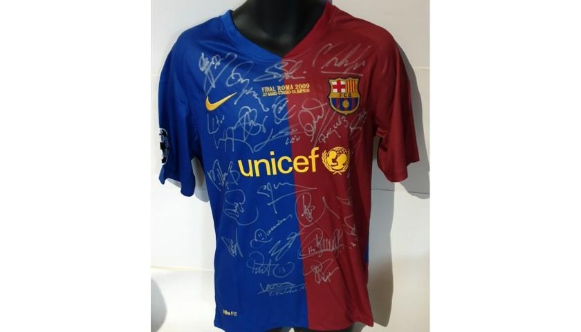 Barcelona 2009 Champions League Squad Signed Shirt