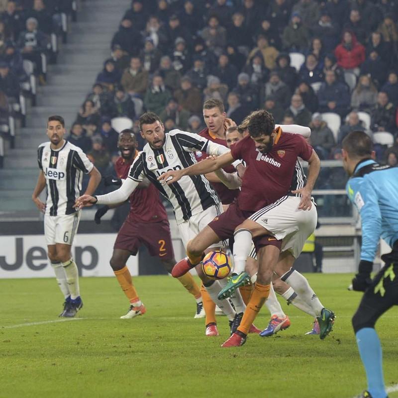 Fazio Match Worn Shirt, Juventus-Roma 17/12/16 - Special Telethon Sponsor