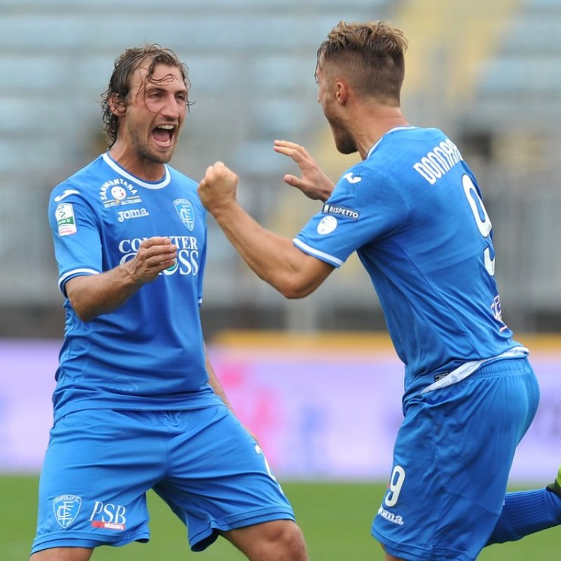 Lollo's Match-Worn Shirt from Empoli-Ascoli with a Special #AiutiamoLI Patch