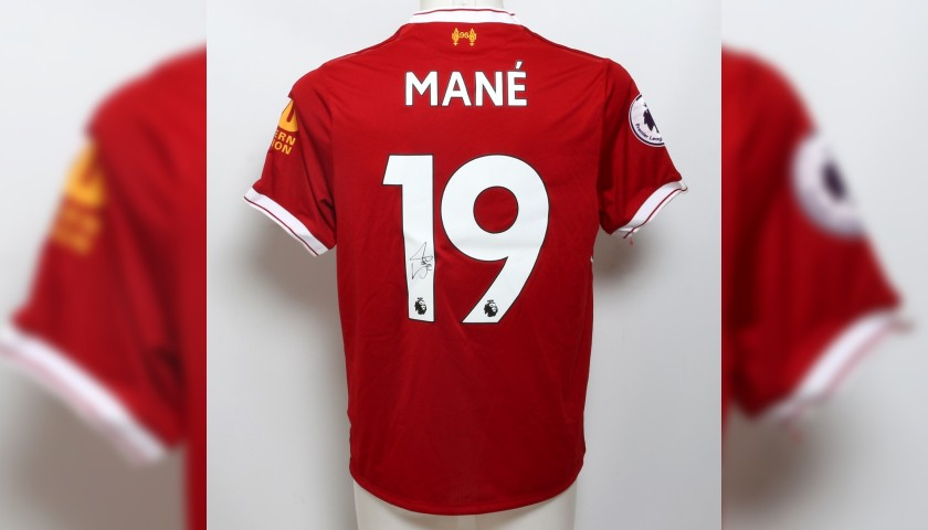 """Mané Signed Limited Edition """"Seeing is Believing"""" 2017/2018 Liverpool FC shirt"""