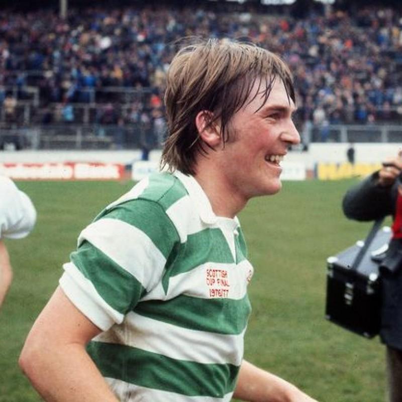 Celtic Retro Shirt - Signed by Kenny Dalglish