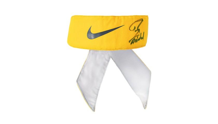 Rafael Nadal, Match Worn Bandana, Nike, Yellow