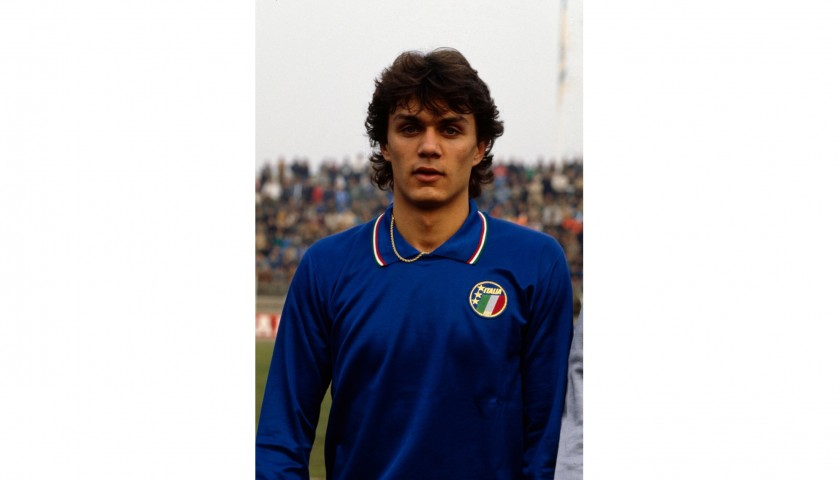 Maldini's Shirt, Worn Netherlands-Italy 1990, Signed