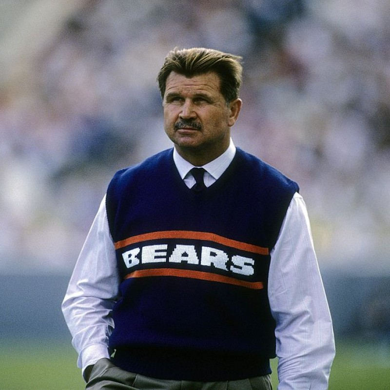 Mike Ditka Signed Stats Bears Jersey