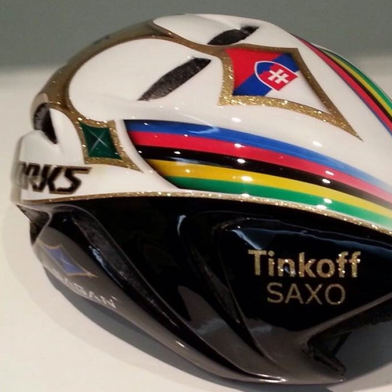 Peter Sagan personalised and signed helmet